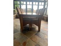 Stunning solid wood table and chairs