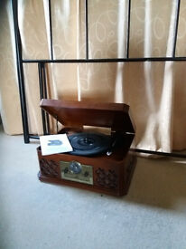 Zennox 6 in 1 Retro Music centre record player, cd, radio, usb
