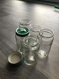 Empty clean jars from baby food with lids 40+