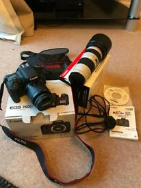 Canon 760D camera and lenses all in good condition