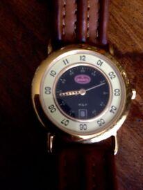 Beautiful gold plated Bugatti watch