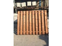 Heavy duty double sided paling fence panels