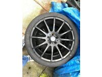 """Ford 5x108 18"""" alloys and new tyres"""