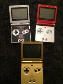 Nes mario Zelda gameboy sp console