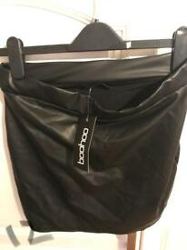 Black satin type skirt BNWT