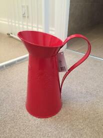 Red Christmas Jug for Flowers