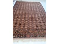 Hand made Afghan/Persian rug: 6m squared