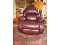 Recliner chair. Electrically operated