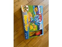 Kids games in boxes mousetrap. Mashin max, chomping shark, busters bones