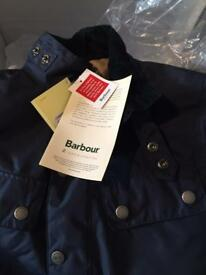 STUNNING BRAND NEW WITH TAGS BOYS BARBOUR JACKET RRP £120 BARGAIN