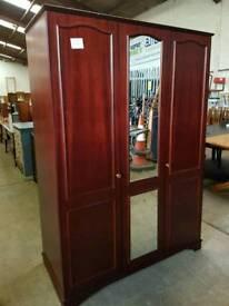 Rosewood mirrored wardrobe