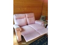 Reclining 2 seater and reclining chair