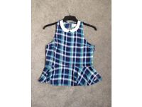Hollister checked top. Size XS (similar to a size 8) BNWT