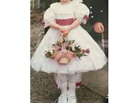Flower girl dress with bloomers