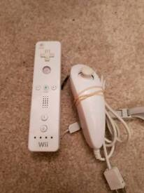 Nintendo Wii remote and nunchuck