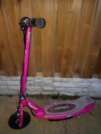 E100 Pink Razor Electric Scooter