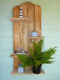 Rustic hand made floating shelf