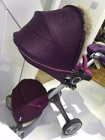 Stokke Xplory purple travel system
