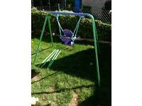 Swing with baby toddler seat