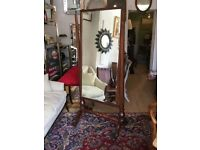 ANTIQUE MAHOGANY CHEVAL MIRROR - STORAGE CLEARANCE!