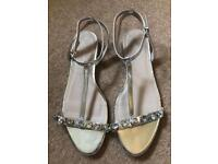 Silver new look sandal shoes