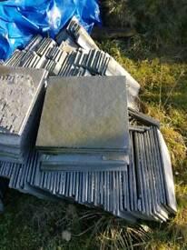 Reclaimed flag stone tiles