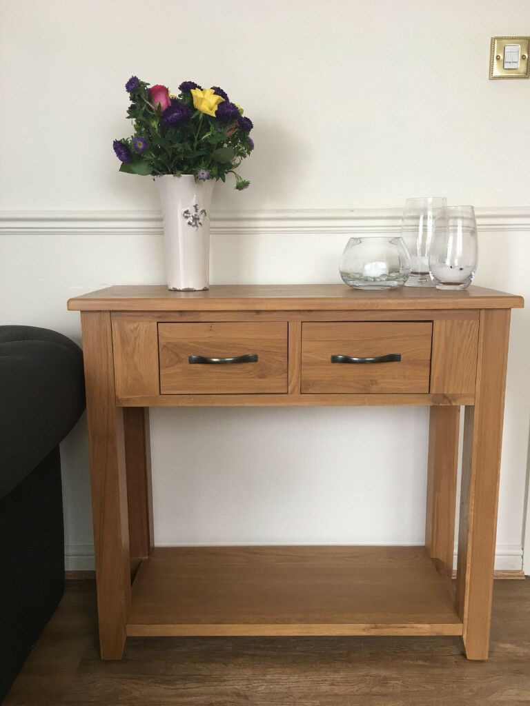 Original Solid Oak Console Table (good condition)