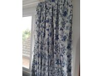 Beautiful lined curtains. Two pairs, 66 x 54. Matching throw