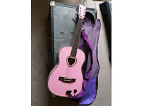 Pink 3/4 Guitar - With Carry Case