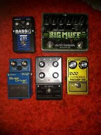 Bass pedals and drive pedals