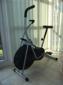 Exercise bike with computer recorder of distance, calories used etc.