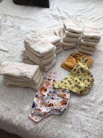 Unused reusable nappies