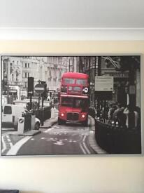 Picture with frame London bus