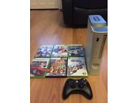 Xbox 360 console complete with 6 games