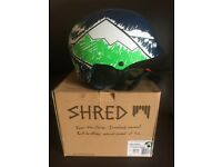 Shred Half Brain Ski Helmet- brand new