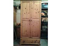 Solid pine wardrobe in good condition