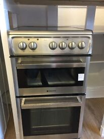 Ceramic hotpoint 500 wide fan oven cooker excellent condition