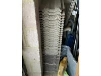38 grey roof tiles. Were surplus in my garage when I moved into the property. 390mm x 230mm