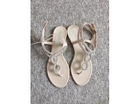 Schuh Gladiator style diamanté sandals - size 8