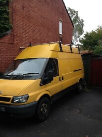 Ford Transit Lwb, high roof, 115ps, 350t. 2.4ltr, Ssh, all new sills. Good tyres, 11 months mot