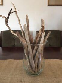 Driftwood & sea glass