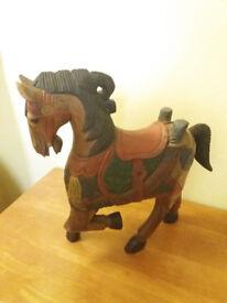 Small Wooden Horse Ornament