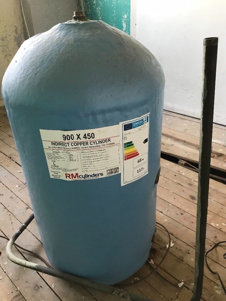 Indirect Copper Cylinder 900 X 450. Hot Water Insulated 117 Litre ...