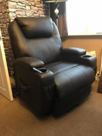 Brown Leather Massage Armchair