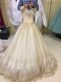 Princess hanna or wedding day dress with scarf