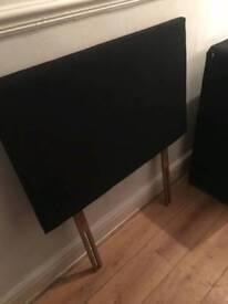 Black single divan bed