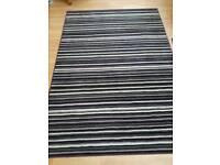 Stripey rug large 160 x 230 purple