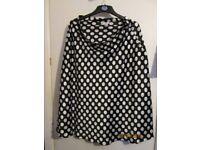 50s STYLE BLACK POLKA DOT SKIRT SIZE 14 GREAT FOR FANCY DRESS