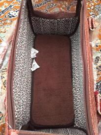 Moc Croc faux leather Pet Carrier BNWT