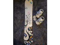 Salomon Snowboard and Bindings White Women 151